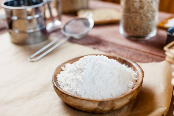 platos con harina de centeno