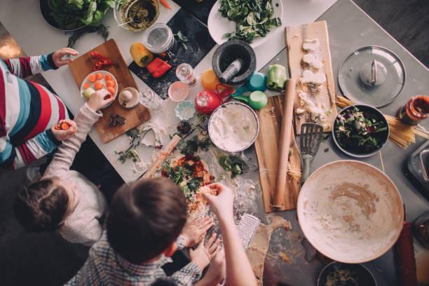 la preparacion de una pizza