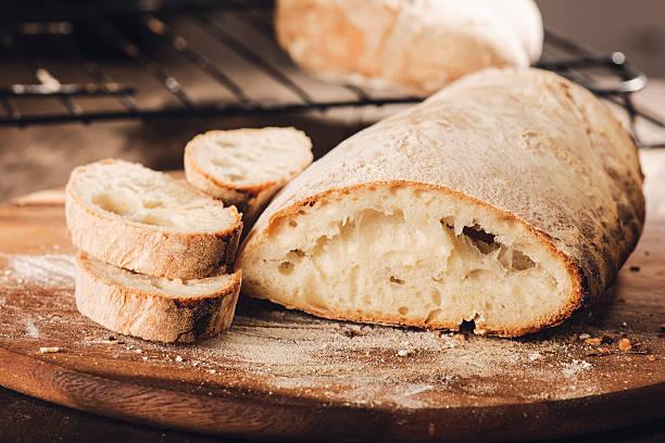 el pan con la harina de fuerza