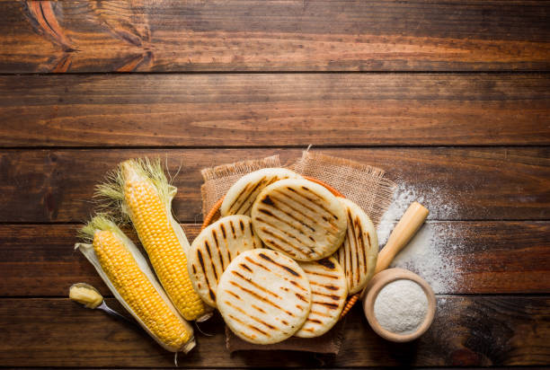 arepas con harina de maiz