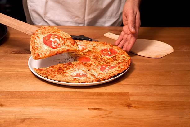 pizza hecha con harina de maiz