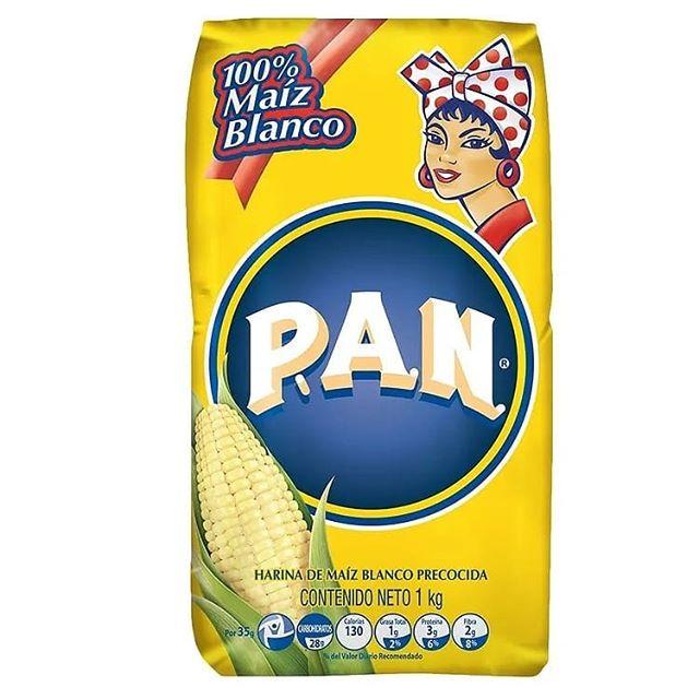 un paquete de harina pan