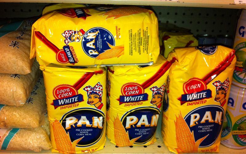 paquetes de harina pan