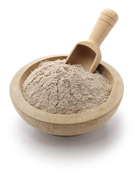 harina e teff en un mortero