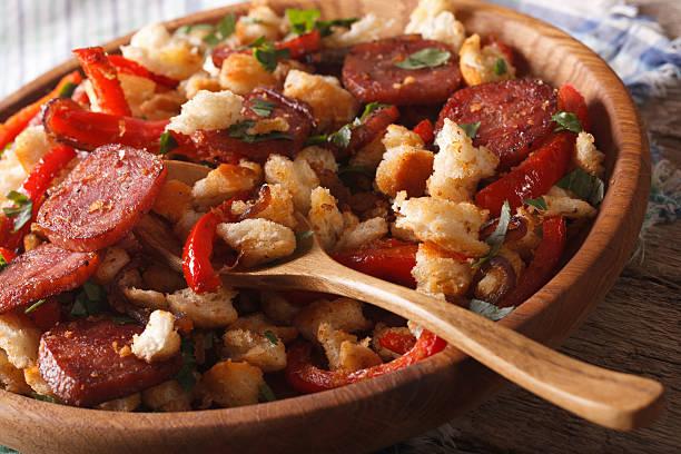 migas españoles con vegetales