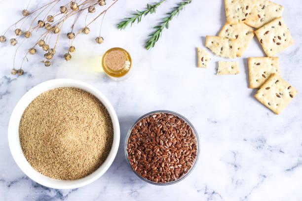 semillas y la harina de linaza