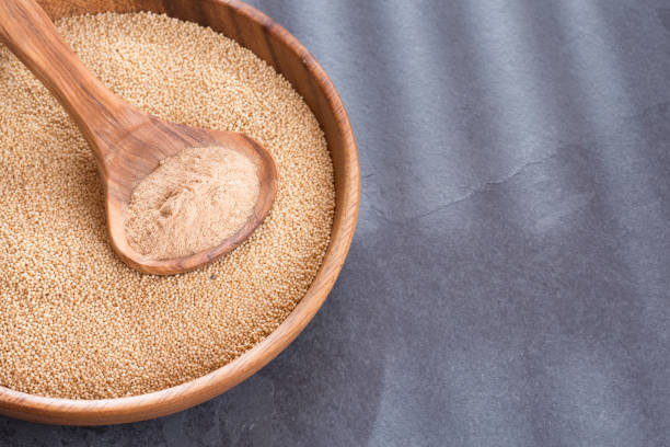 platos con harina de amaranto