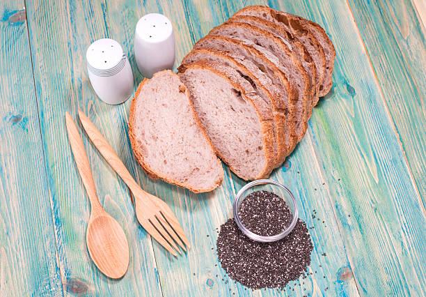 rebanadas de pan de chía