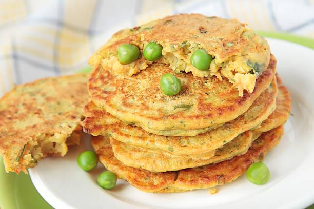 platos con harina de guisantes