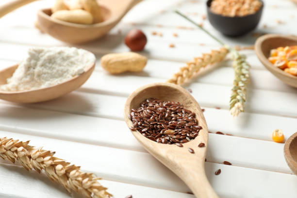 preparaciones de harina de lino
